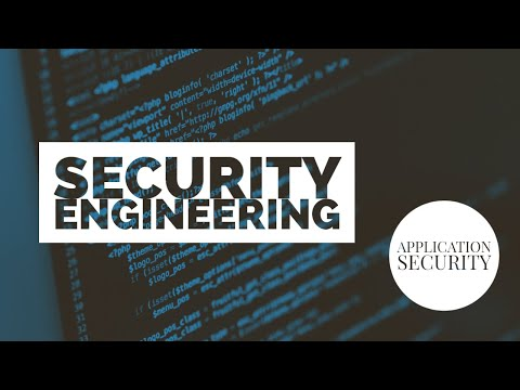 Tutorial Series: Application Security - Security Engineering - YouTube