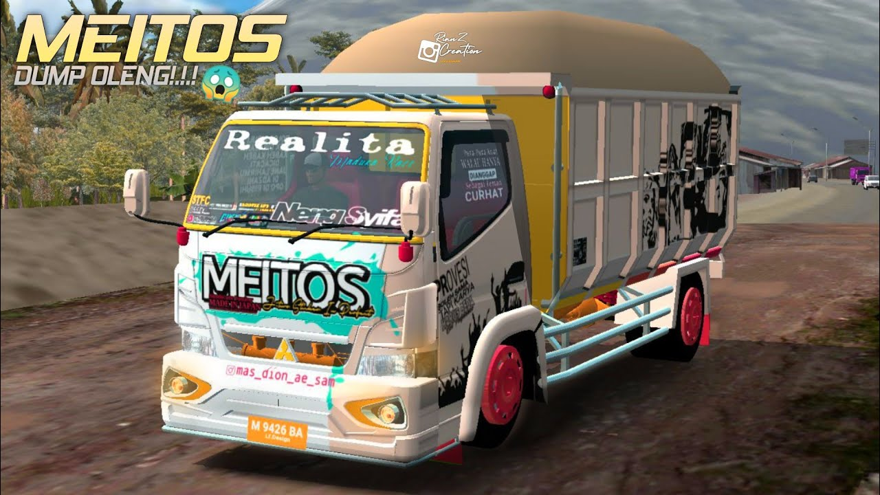 Canter Dump Truck Meitos, Canter Dump Truck Meitos Mod BUSSID, MOD BUSSID Canter Dump Truck Meitos, MOd Canter Dump Truck Meitos UBSSID, RMC Creatoin, BUSSID Truck Mod, BUSSID Mod, MOd BUSSID, SGCArena