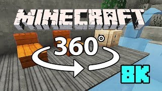 Minecraft [VR] 360° 8K 60 Fps - Cliffside Mansion