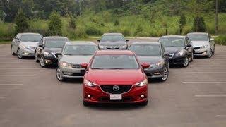 2013-14 Mid-Size Sedan Comparison Test: Toyota Camry vs Honda Accord vs Mazda6 and more