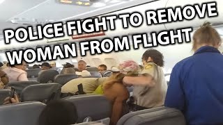 Police Fight Disruptive Woman off Spirit Airlines Flight
