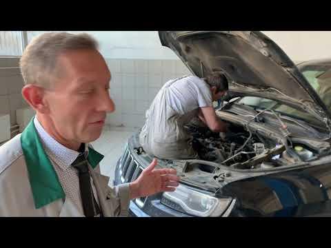Фото к видео: Это безумно интересно! Замена теплообменника (маслоохладитель) на автомобиле Jeep Grand Cherokee