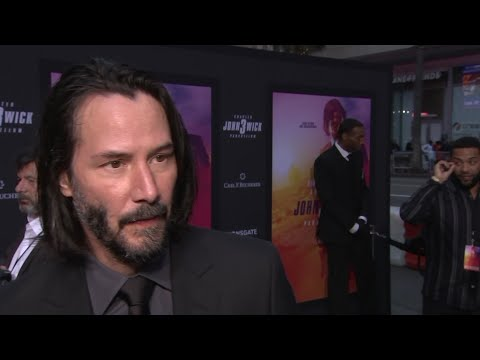 """On his late-night show, Stephen Colbert asked Keanu Reeves what happens when we die, to which Reeves responded: """"I know that the ones who love us will miss us."""" At the LA premiere of """"John Wick: Chapter 3 - Parabellum"""" the actor explains the thinking behind the statement. (May 16)"""