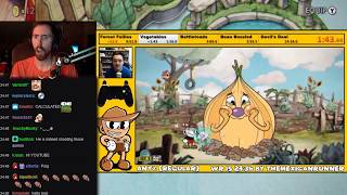 Asmongold Watches [World Record] Cuphead - Any% (Regular) in 24:16 by The Mexican Runner