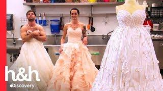 ¡Buddy necesita modelos para hacer pastel de un vestido de novia! | Cake Boss | Discovery H&H