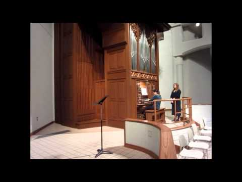 Me as the organist, playing Widor Symphony No. 6.