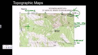 Topographic Maps UTM coordinates