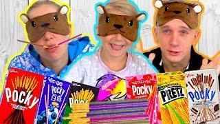 Челлендж вкусные палочки новый веселый и вкусный челендж для детей от канала Family box