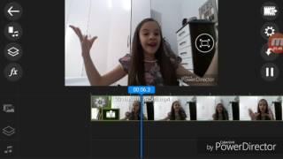 Como editar vídeo pelo PowerDirector.-Como dar zoom,colocar efeito e muito mais....