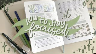 how to stay focused while studying ✨