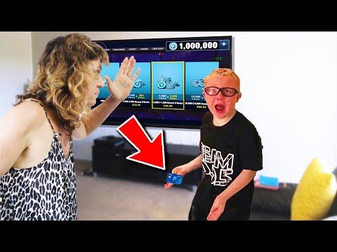 Kid SLAPS mom then STEALS credit card to buy v-bucks..  (Fortnite)