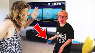 Kid SLAPS mom then STEALS credit card to buy v-bucks..  (Fortnite)