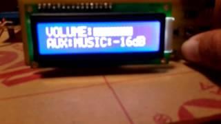PT2322 + Arduino + 1602 LCD - MedellinChooper