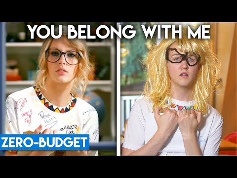 TAYLOR SWIFT WITH ZERO BUDGET! (You Belong With Me, Blank Space PARODY)