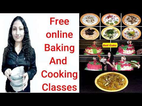 Free Online Baking Class | free online cooking classes| Free classes for cooking and Baking | part 1