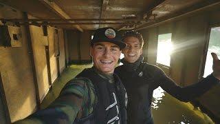 Found Half Sunken Tug Boat in River! (Explored for Potential Treasure)