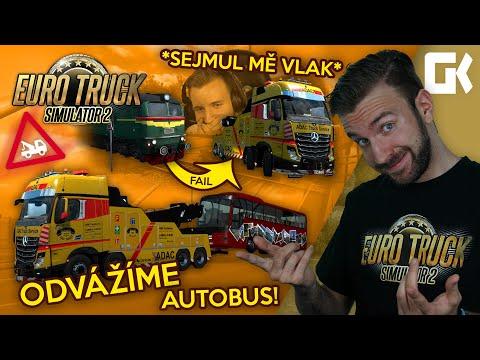 ODVÁŽÍME AUTOBUS! *SEJMUL MĚ VLAK* | Euro Truck Simulator 2 Mod