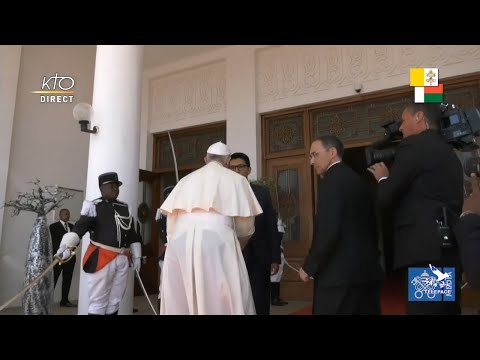 Visite du pape François au président de Madagascar