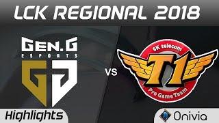 GEN vs SKT Highlights Game 1 LCK Regional 2018 Gen G Esports vs SK Telecom T1 by Onivia