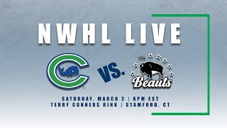 NWHL Live: Buffalo at Connecticut 03.02.19