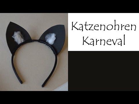 DIY Katzenohren (Karneval/Fasching)