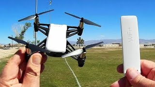DJI Ryze Tello With Xiaomi Mi Repeater Range Extender Flight Test Review
