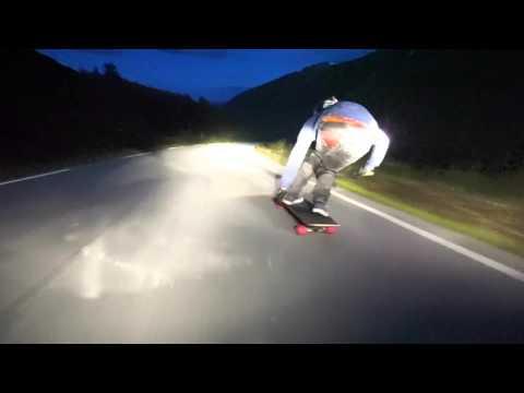 Kim Anderssen – Norwegian Nights Longboarding Downhill at 60mph+
