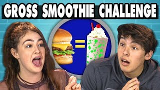 GROSS SMOOTHIE CHALLENGE!   Teens Vs. Food - Video Youtube