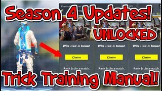 Season 4 Rules of Survival! Trick Instant level up in training manual Unlocked[Rewards]