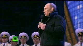 Путин: После тяжёлого плавания Крым и Севастополь возвращаются в родную гавань