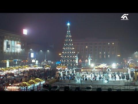 Новогодняя площадь Свободы с высоты птичьего полета