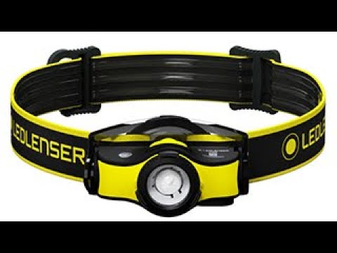 Ledlenser iH5R Rechargeable Head Torch with Helmet Mount