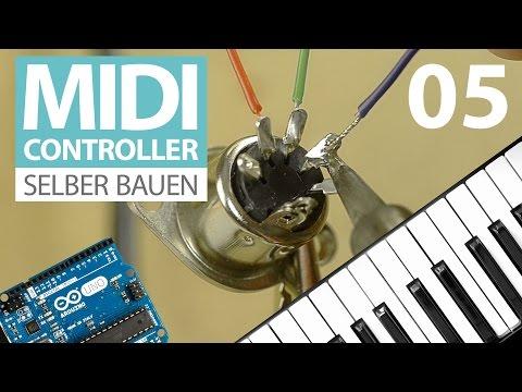 MIDI-Controller selber bauen (E05) richtig löten lernen - MIDI-Out