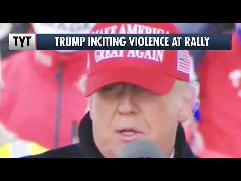 Trump Trucks Run Down Biden Bus, Trump Cheers