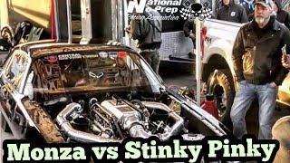 Monza twin turbo Camaro vs Stinky Pinky at Memphis No Prep Kings 2