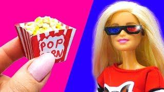 barbie-doll-cinema-set-diy-for-kids-how-to-make-miniature-crafts