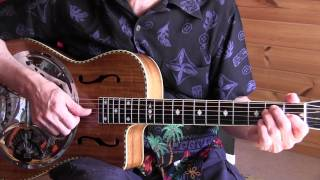 Acoustic Blues Lesson - Key To The Highway