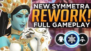 Overwatch NEW Symmetra REWORK Gameplay! - ALL Abilities Breakdown!