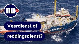 Mensenredders of mensensmokkelaars? Veel discussie rond Sea-Watch | NU.nl