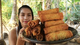 Yummy cooking Spring rolls recipe - Cooking skill