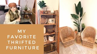 ALL OF MY THRIFTED FURNITURE L Mid-century Modern And Bohemian Furniture