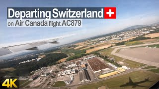 Taxi, Takeoff & Climb-out from Zurich Airport onboard Air Canada Boeing 777 to Toronto