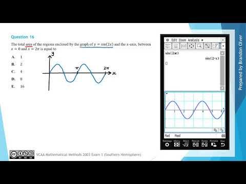 VCAA Mathematical Methods 2003 Exam 1 - MC Question 16 ...