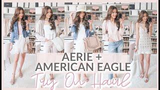 American Eagle + Aerie SPRING TRY ON HAUL 2020 | HUGE SALE!! 💗