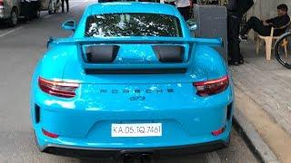 Miami Blue Porsche 991.2 GT3 In India (Bangalore)