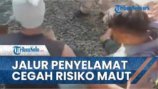 Beredar Video Truk Trailer Lolos dari Maut setelah Masuk ke Jalur Penyelamat di Flyover Kretek