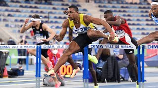 Miramas 2021 : Finale 60 m haies M (Wilhem Belocian en 7''46)