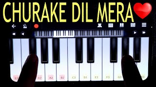Churake Dil Mera On Vivo V17 Pro | Walk Band App | Janny Dholi | Mobile Drumming