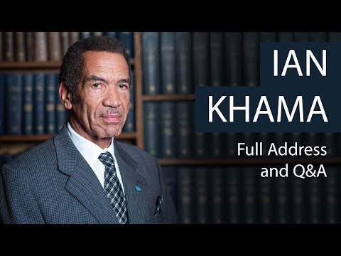 President Ian Khama | Full Address and Q&A | Oxford Union