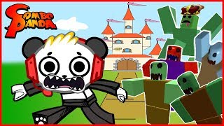 Roblox Zombie Attack Take Out KING SLIME Let's Play with Combo Panda